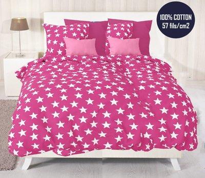 Dekbedovertrek 240 x 220 cm Luxe Katoen Bedlin Stars Pink