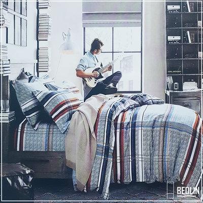 Dekbedovertrek Micropercal 200 x 200cm Bedlin GitarBlock