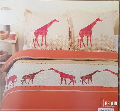Dekbedovertrek 100% Katoen 200x200cm Giraf