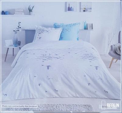 Luxe Katoen Dekbedovertrek Lits-Jueaux 240 x 220 cm Birdy
