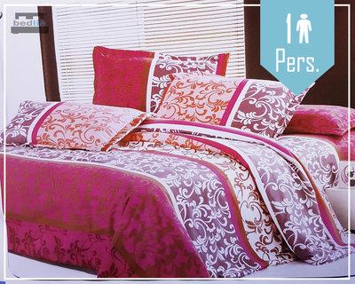 1 Persoon Micropercal 140x200 dekbedovertrek Marroc Roos
