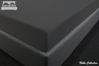 Hoeslaken Katoen-Jersey 160 x 200 cm Zwart