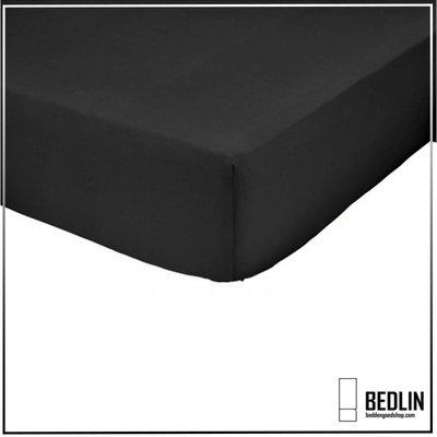 Hoeslaken 100% Katoen 160x200cm Zwart