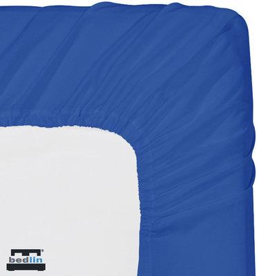Hoeslaken Micropercal 2 persoons en strijkvrij (160 x 200cm) Blauw