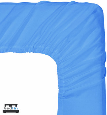 Hoeslaken Micropercal 2 persoons en strijkvrij (160 x 200cm) Lichtblauw