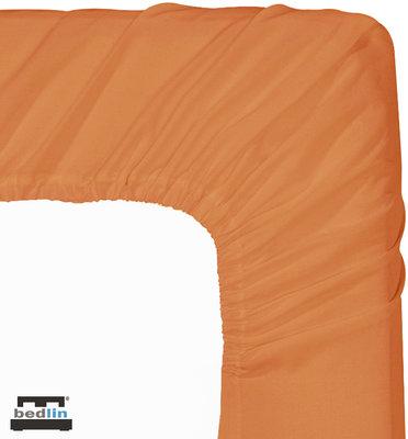 Hoeslaken Micropercal 2 persoons en strijkvrij (160 x 200cm) Oranje