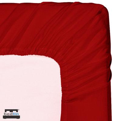 Hoeslaken Micropercal 2 persoons en strijkvrij (160 x 200cm) Donker Rood