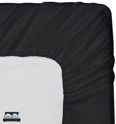 Hoeslaken Micropercal 2 persoons en strijkvrij (160 x 200cm) Zwart