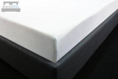 Hoeslaken Katoen-Jersey 200 x 220 cm Wit