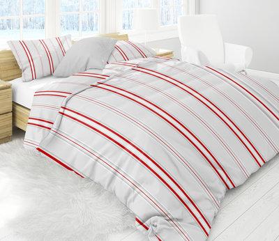 Luxe Flanel Dekbedovertrek 200x200cm Red lines