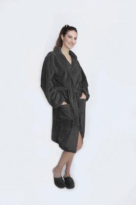 Zachte Luxe badjas - Unisex - Donker grijs