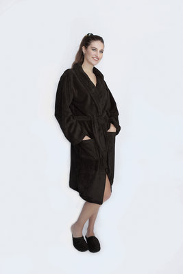 Zachte Luxe badjas - Unisex - Donker bruin