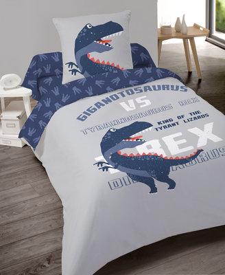 Luxe Katoen Dekbedovertrek 1 persoon 140 x 200 cm T-Rex