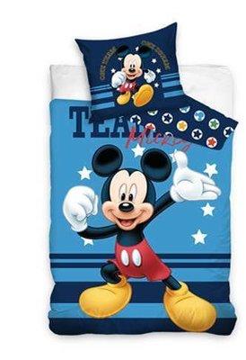 Luxe Katoen Dekbedovertrek 1 persoon 140 x 200 cm Mickey Mouse