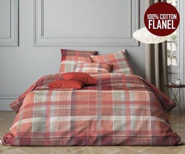 Dekbedovertrek cm premium flanel lits jumeaux silver red